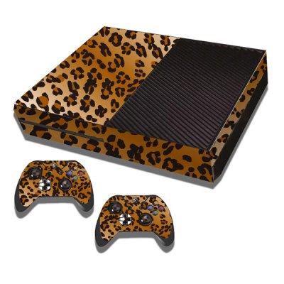Гаджет   Leopard Print Style Game Console Gamepad Controller Stickers Skin for Xbox One Video Game