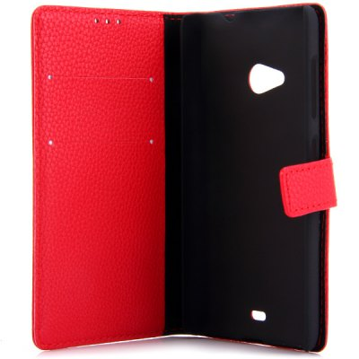 Фотография Litchi Texture Design Full Body Case with Card Holder Stand for Nokia N535 Lumia 535