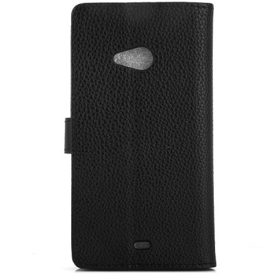 Litchi Texture Design Full Body Case with Card Holder Stand for Nokia N535 Lumia 535