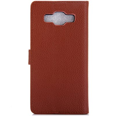 Litchi Texture Design Full Body Case with Card Holder Stand for Samsung A5 A5000Samsung Cases/Covers<br>Litchi Texture Design Full Body Case with Card Holder Stand for Samsung A5 A5000<br><br>Compatible models: Samsung A5 A5000<br>Features: Full Body Cases, Cases with Stand, With Credit Card Holder<br>Material: PU Leather, Plastic<br>Style: Solid Color<br>Color: Brown, Black, White, Red<br>Product weight: 0.049 kg<br>Package weight: 0.1 kg<br>Product size (L x W x H) : 14.2 x 7 x 1.5 cm / 5.58 x 2.75 x 0.59 inches<br>Package size (L x W x H): 16 x 8 x 3 cm / 6.29 x 3.14 x 1.18 inches<br>Package Contents: 1 x Full Body Case