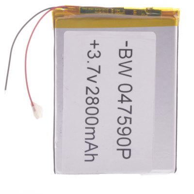 047590P Universal Replacement 3.7V 2800mAh Li - polymer Rechargeable BatteryPower<br>047590P Universal Replacement 3.7V 2800mAh Li - polymer Rechargeable Battery<br><br>Type: Replacement Li-polymer Battery<br>Model: 047590P<br>Material: Aluminum Alloy + Copper + Li-ion<br>Batteries Included: Yes<br>Product Weight: 0.051 kg<br>Package Weight: 0.112 kg<br>Product Size(L x W x H): 9 x 7.5 x 0.4 cm / 3.54 x 2.95 x 0.16 inches<br>Package Size(L x W x H): 12 x 10 x 1 cm / 4.72 x 3.93 x 0.39 inches<br>Package Contents: 1 x 047590P 3.7V 2800mAh Li-Polymer Battery