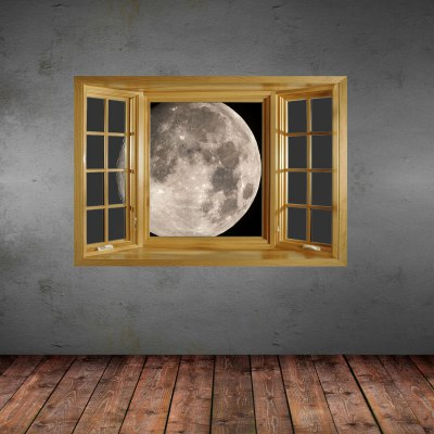 3D Moon Pattern Home Appliances Decoration Wall Sticker