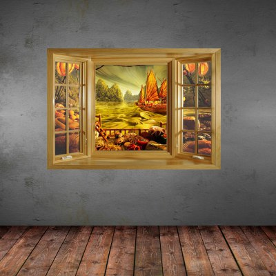 3D Retro Scenery Pattern Home Appliances Decoration Wall StickerWall Stickers<br>3D Retro Scenery Pattern Home Appliances Decoration Wall Sticker<br><br>Subjects: Still Life, Landscape<br>Art Style: Plane Wall Stickers<br>Color Scheme: Multicolor<br>Functions: Decorative Wall Stickers<br>Hang In/Stick On: Hotels, Cafes, Kids Room, Offices, Lobby, Nurseries, Stair, Bedrooms, Toilet, Living Rooms<br>Material: Vinyl(PVC)<br>Product Type: Art Print<br>Product weight   : 0.150 kg<br>Package weight   : 0.370 kg<br>Product size (L x W x H)   : 66 x 98 x 0.3 cm / 25.94 x 38.51 x 0.12 inches<br>Package size (L x W x H)  : 68 x 7 x 7 cm / 26.72 x 2.75 x 2.75 inches<br>Package Contents: 1 x Wall Sticker