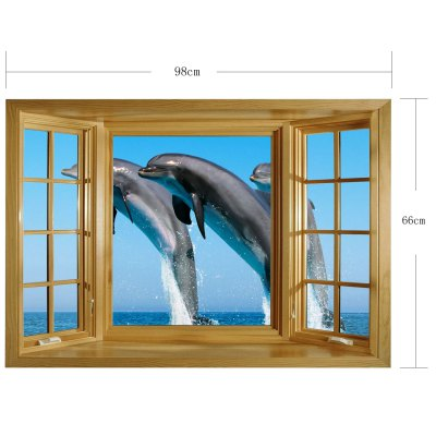 Фотография 3D Dolphin Pattern Home Appliances Decoration Wall Sticker