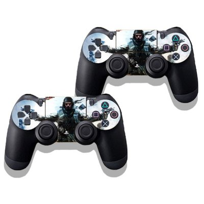 Фотография Rush Teare Style Game Console Gamepad Controller Stickers Skin for PS4