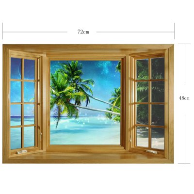 3D Seascape Pattern Home Appliances Decoration Wall Sticker