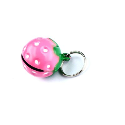 Pets Bell with Cute Strawberry PatternDog Toys<br>Pets Bell with Cute Strawberry Pattern<br><br>For: Cats,Dogs<br>Material: Metal<br>Functions: Cosplay<br>Season: All seasons<br>Color: Pink<br>Product weight: 0.004 kg<br>Package weight: 0.056 kg<br>Product size (L x W x H): 2 x 1.7 x 1.5 cm / 0.79 x 0.67 x 0.59 inches<br>Package size (L x W x H): 6 x 5 x 3 cm / 2.36 x 1.97 x 1.18 inches<br>Package Contents: 1 x Bell