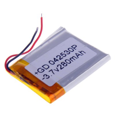 042530P Universal Replacement Lithium Polymer Battery ( 3.7V 280mAh ) for Mobilephone MP3 MP4Power<br>042530P Universal Replacement Lithium Polymer Battery ( 3.7V 280mAh ) for Mobilephone MP3 MP4<br><br>Type: Replacement Li-polymer Battery<br>Model: 042530P<br>Material: Aluminum Alloy + Copper + Li-ion<br>Batteries Included: Yes<br>Product Weight: 0.015 kg<br>Package Weight: 0.069 kg<br>Product Size(L x W x H): 3 x 2.5 x 0.4 cm / 1.18 x 0.98 x 0.16 inches<br>Package Size(L x W x H): 12 x 10 x 1 cm / 4.72 x 3.93 x 0.39 inches<br>Package Contents: 1 x 042530P 3.7V 280mAh Li-Polymer Battery