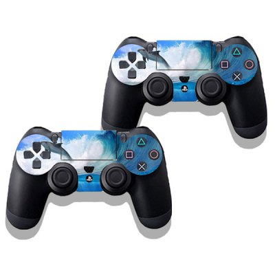 Sea Fish Style Game Console Gamepad Controller Stickers Skin for PS4