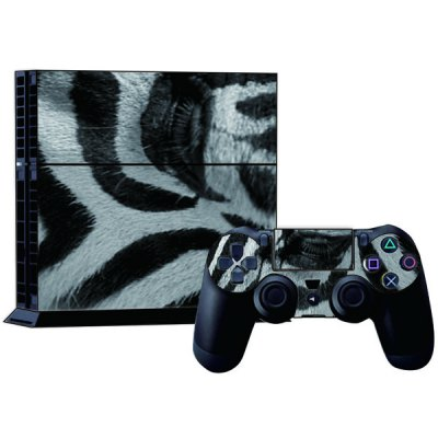 Zebra Style Game Console Gamepad Controller Stickers Skin for PS4