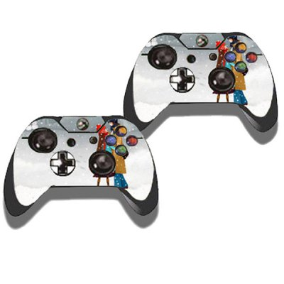 Фотография Winter Lovers Style Game Console Gamepad Controller Stickers Skin for Xbox One