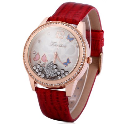 Tianshou 8364 Female Rolling Diamond Quartz Watch Glossy Band WristwatchWomens Watches<br>Tianshou 8364 Female Rolling Diamond Quartz Watch Glossy Band Wristwatch<br><br>Brand: Tianshou<br>Watches categories: Female table<br>Available color: Blue, Champagne, Red<br>Style : Fashion&amp;Casual<br>Movement type: Quartz watch<br>Shape of the dial: Round<br>Display type: Analog<br>Case material: Alloy<br>Band material: Leather<br>Clasp type: Pin buckle<br>The dial thickness: 1.1 cm / 0.43 inches<br>The dial diameter: 4.1 cm / 1.61 inches<br>The band width: 1.7 cm / 0.67 inches<br>Product weight: 0.054 kg<br>Package weight: 0.104 kg<br>Product size (L x W x H) : 25 x 4.1 x 1.1 cm / 9.83 x 1.61 x 0.43 inches<br>Package size (L x W x H): 26 x 5.1 x 2.1 cm / 10.22 x 2.00 x 0.83 inches<br>Package contents: 1 x Tianshou 8364 Watch