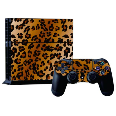 Фотография Leopard Print Style Game Console Gamepad Controller Stickers Skin for PS4
