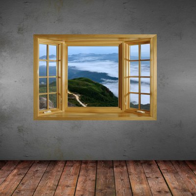 ФОТО 3D Mountain View Pattern Home Appliances Decoration Wall Sticker