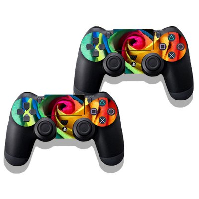 Фотография Rose Style Game Console Gamepad Controller Stickers Skin for PS4