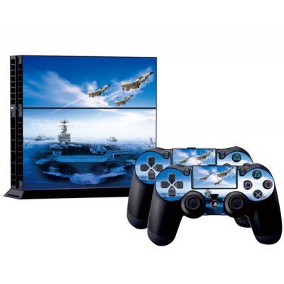 Aircraft Carrier Style Game Console Gamepad Controller Stickers Skin for PS4