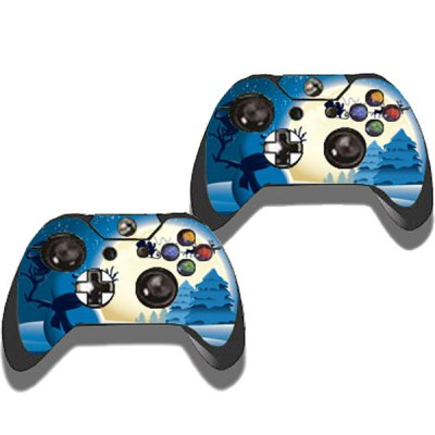 Фотография Christmas Style Game Console Gamepad Controller Stickers Skin for Xbox One