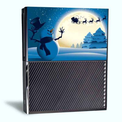 Christmas Style Game Console Gamepad Controller Stickers Skin for Xbox One