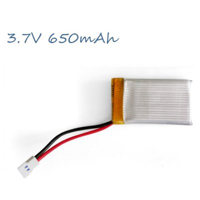 Spare 3.7V 650mAh Li  -  polymer Battery for W609  -  9 RC 6 Axis Copter Drone