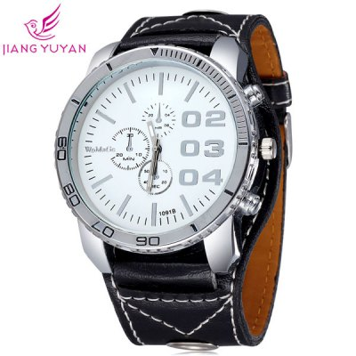 Гаджет   WoMaGe 1091B Male Casual Quartz Watch Wristwatch with Leather Band Men