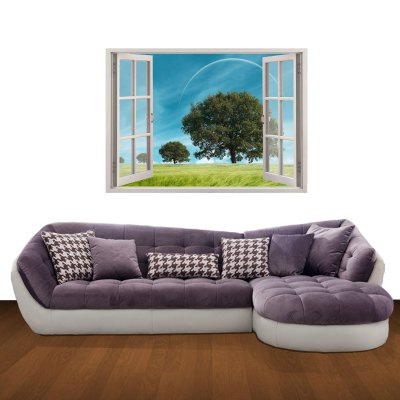 Гаджет   3D Trees Pattern Home Appliances Decoration Wall Sticker Home Decor