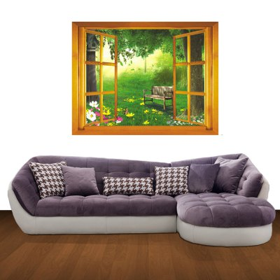 ФОТО 3D Rest in Woodland Pattern Home Appliances Decoration Wall Sticker