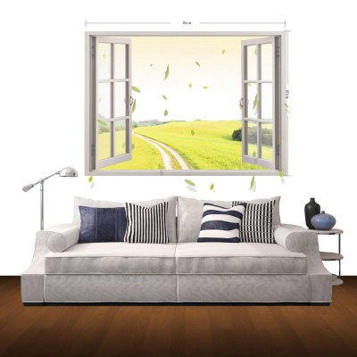 Фотография 3D Rice Field Scenery Pattern Home Appliances Decoration Wall Sticker