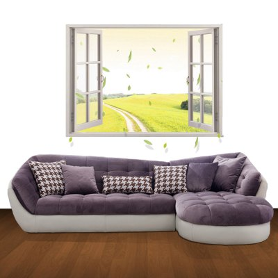 3D Rice Field Scenery Pattern Home Appliances Decoration Wall Sticker