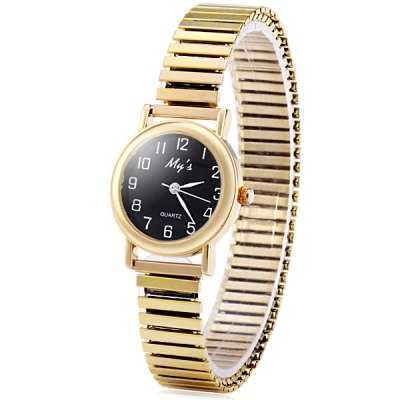 Mys Female Quartz Watch Round Dial and Steel Elastic WatchbandWomens Watches<br>Mys Female Quartz Watch Round Dial and Steel Elastic Watchband<br><br>Watches categories: Female table<br>Available color: Black, Gold, Silver<br>Style : Fashion&amp;Casual<br>Movement type: Quartz watch<br>Shape of the dial: Round<br>Display type: Analog<br>Case material: Stainless steel<br>Case color: Silver<br>Band material: Steel<br>Clasp type: Conjoined clasp<br>The dial thickness: 0.7 cm / 0.28 inch<br>The dial diameter: 2.7 cm / 1.06 inch<br>The band width: 1.3 cm / 0.51 inch<br>Product weight: 0.030 kg<br>Package weight: 0.08 kg<br>Product size (L x W x H) : 9 x 2.7 x 0.7 cm / 3.54 x 1.06 x 0.28 inches<br>Package size (L x W x H): 10 x 3.7 x 1.7 cm / 3.93 x 1.45 x 0.67 inches<br>Package contents: 1 x Watch