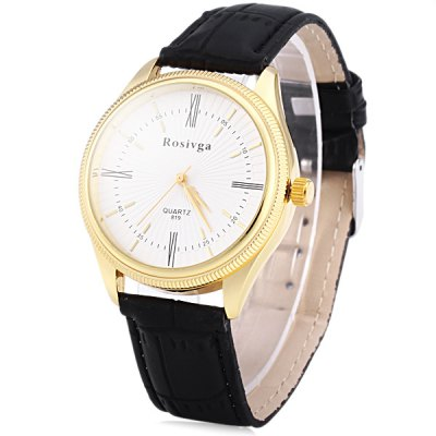 Rosivga 819 Men Quartz Watch Analog Wristwatch Leather Strap Round DialMens Watches<br>Rosivga 819 Men Quartz Watch Analog Wristwatch Leather Strap Round Dial<br><br>Brand: Rosivga<br>Watches categories: Male table<br>Watch style: Business<br>Available color: Black, Brown<br>Movement type: Quartz watch<br>Shape of the dial: Round<br>Display type: Analog<br>Case material: Stainless steel<br>Band material: Leather<br>Clasp type: Pin buckle<br>The dial thickness: 0.9 cm / 0.35 inches<br>The dial diameter: 4.0 cm / 1.57 inches<br>The band width: 1.8 cm / 0.71 inches<br>Product weight: 0.039 kg<br>Package weight: 0.089 kg<br>Product size (L x W x H): 25.3 x 4 x 0.9 cm / 9.94 x 1.57 x 0.35 inches<br>Package size (L x W x H): 26.3 x 5 x 1.9 cm / 10.34 x 1.97 x 0.75 inches<br>Package Contents: 1 x Rosivga 819 Watch