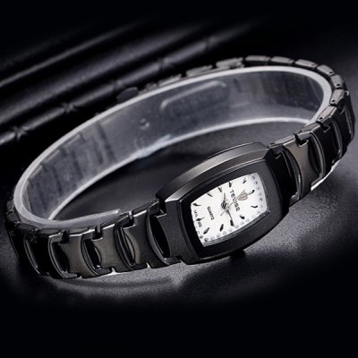 Фотография Tevise Diamond Men Quartz Watch Stainless Steel Body Rectangle Dial