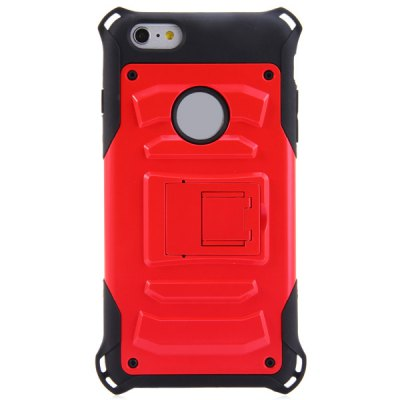 PC and TPU Material Stand Design Back Cover Case for iPhone 6 Plus  -  5.5 inchiPhone Cases/Covers<br>PC and TPU Material Stand Design Back Cover Case for iPhone 6 Plus  -  5.5 inch<br><br>Compatible for Apple: iPhone 6 Plus<br>Features: Cases with Stand, Back Cover<br>Material: Plastic, TPU<br>Style: Novelty<br>Color: Red, Blue, Gold, Silver, Black<br>Product weight : 0.054 kg<br>Package weight : 0.075 kg<br>Product size (L x W x H): 16.5 x 8.8 x 1.2 cm / 6.48 x 3.46 x 0.47 inches<br>Package size (L x W x H) : 17.5 x 9.5 x 3 cm / 6.88 x 3.73 x 1.18 inches<br>Package contents: 1 x Case