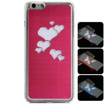 Гаджет   PC and Aluminium Material LED Incoming Call Shining Back Cover Case for iPhone 6 Plus  -  5.5 inch iPhone Cases/Covers