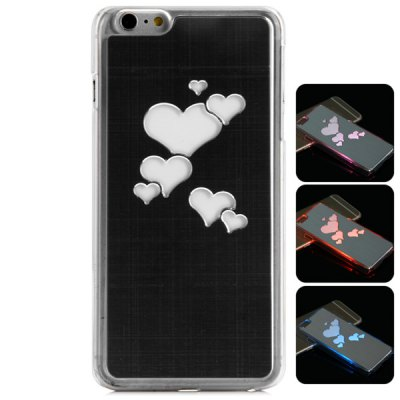 Гаджет   PC and Aluminium Material LED Incoming Call Shining Back Cover Case for iPhone 6 Plus  -  5.5 inch