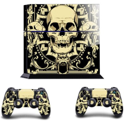 Гаджет   Skull Head Style Game Console and Handle Protection Stickers Skin Decal for PS4 Video Game