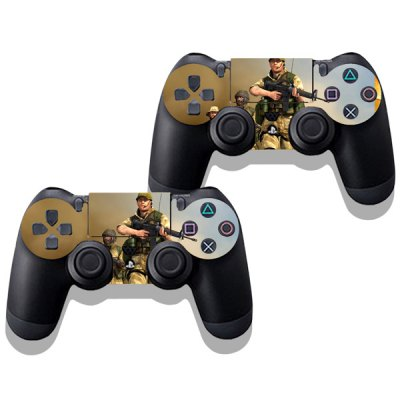 Фотография Soldier Style Game Console and Handle Protection Stickers Skin Decal for PS4