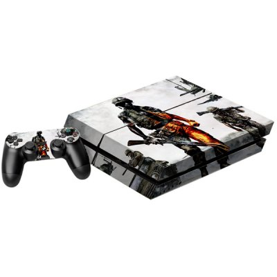 Battleground Soldier Pattern Game Console Handle Stickers Skin Decal Fits for PS4