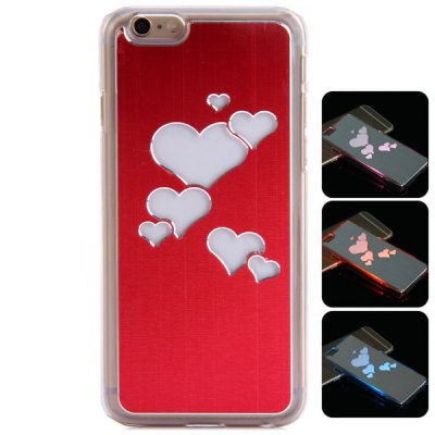PC and Aluminium Material LED Incoming Call Shining Back Cover Case for iPhone 6  -  4.7 inch