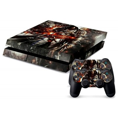 Assassins Creed Style Game Console and Handle Protection Stickers Skin Decal for PS4