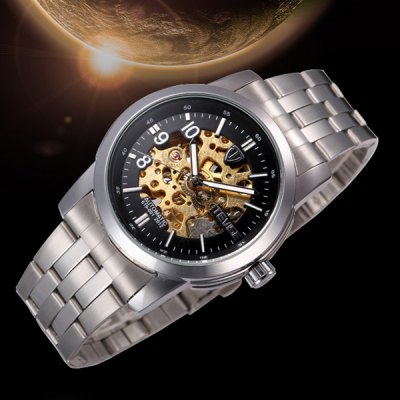Фотография Tevise 619 - 001 Hollow - out Design Male Automatic Mechanical Watch with Alloy Body Round Dial