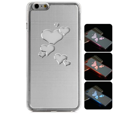 Фотография PC and Aluminium Material LED Incoming Call Shining Back Cover Case for iPhone 6  -  4.7 inch