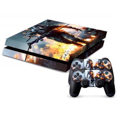 Warrior Pattern Game Console Handle Stickers Skin Decal Fits for PS4