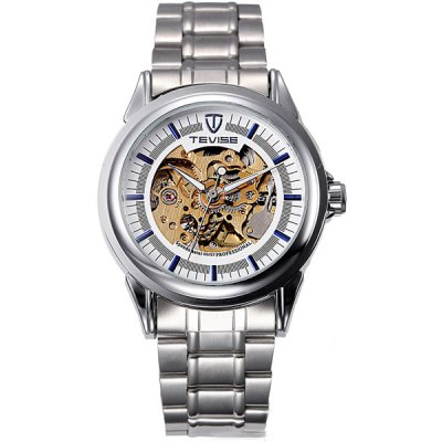 Tevise Hollow - out Design Male Automatic Mechanical Watch with Alloy Body