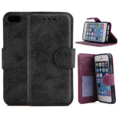 PU Leather and TPU Material Cover Case for iPhone 5 5S
