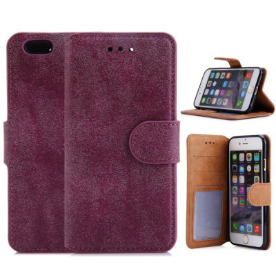 PU Leather and TPU Material Vintage Style Cover Case for iPhone 6  -  4.7 inch