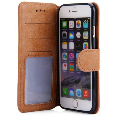 Фотография PU Leather and TPU Material Vintage Style Cover Case for iPhone 6  -  4.7 inch