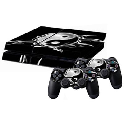 Tai Ji Style Game Console and Handle Protection Stickers Skin Decal for PS4