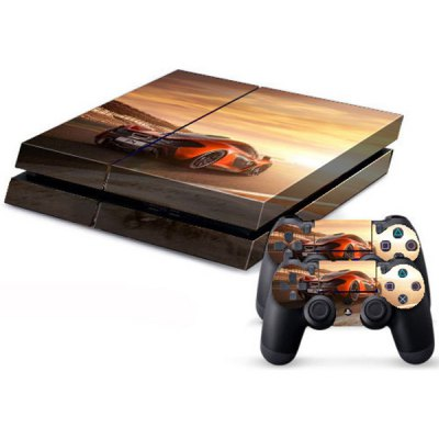 Cool Car Style Game Console and Handle Protection Stickers Skin Decal for PS4