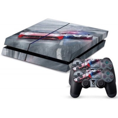 Racing Cars Pattern Game Console Handle Stickers Skin Decal Fits for PS4