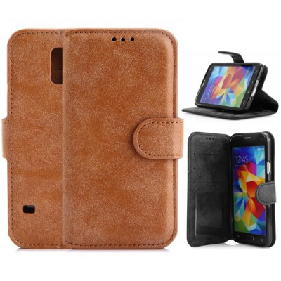 PU Leather and TPU Material Cover Case for Samsung Galaxy S5 i9600